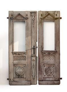 Antike 2-flügelige Haustür
