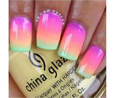 Neonowy manicure ombre - super pomysły na kolorowe paznokcie - Strona 8