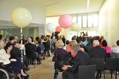 Wedding ceremony in the Glucksman Gallery. Wedding Ceremony, Conference Room, Parties, Events, Weddings, Gallery, Home Decor, Fiestas, Decoration Home