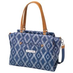 Petunia Pickle Bottom Diaper Bag Mod Collection Statement Satchel Indigo #laylagrayce