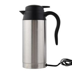 21.99$  Watch now - Stainless Steel Cup Kettle 750ml 12V Car Based Heating Travel Thermoses Coffee Tea Heated Mug Motor Hot Water For Car Truck Use   #aliexpresschina