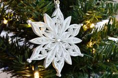 Quilled snowflake Christmas decoration Snowflake paper