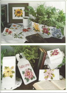 State Flowers In Plastic Canvas Pattern by KnitKnacksCreations