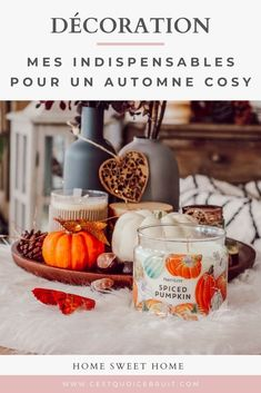 Décoration intérieure : mes indispensables pour une décoration automnale réussie ! #décoration #automne #cosy #hygge #decor Sweet Home, Coin, Hygge, Decoration, Blogging, Pumpkin, Community, Lifestyle, Fall Season