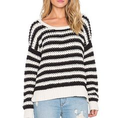 Free People Black & Ivory Knit Sweater Super cute and perfect for the cold! Awesome wardrobe staple. Brand new with tags. No trades!! 11181525tmr Free People Sweaters Crew & Scoop Necks