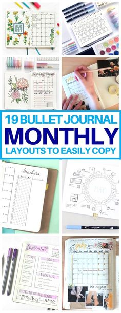 This is EXACTLY what I needed! A list of bullet journal monthly spread ideas for… This is EXACTLY what I needed! A list of bullet journal monthly spread ideas for inspiration. Cannot wait to try these bujo layouts next month. Bullet Journal Inspo, Digital Bullet Journal, Bullet Journal Monthly Spread, My Journal, Journal Pages, Bujo Monthly Spread, Journal List, Bullet Journal Printables, Bullet Journal Timetable