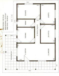 17 modelos de projetos de plantas de casas populares, que lhe ajudarão na elaboração da planta de sua casa própria. As plantas de casas populares são as mais buscadas por brasileiros. Best House Plans, Small House Plans, B Plan, How To Plan, Home Design Floor Plans, Construction, Small House Design, Good House, Interior Architecture