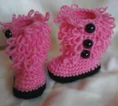 Crocheted FUZZY Ugg Boots by MamaTCrafts on Etsy, $18.00