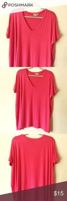 Size Sm. Hot Pink Piko Top. Mint Condition. Fabric is very soft and flowing. Flattering on all body types. No holes or tears. No pulls in the fabric. Goes great with skinny jeans or leggings. Always looks great even after being washed. The fabric is made from bamboo. Hard to wrinkle. This is a great top! I love my Piko tops. The only reason I'm parting with this one is the color doesn't look good on me. Piko Tops Tunics