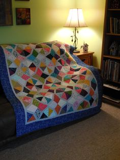 Bordered Periwinkle Quilt  4-2015