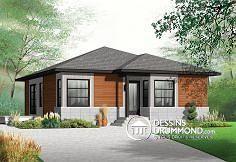 Petite maison contemporaine, populaire! Plan de maison no. W3129 de DessinsDrummond.com