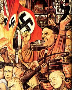 'Hitler in fresco' (1933), by Mexican artist Diego Rivera.