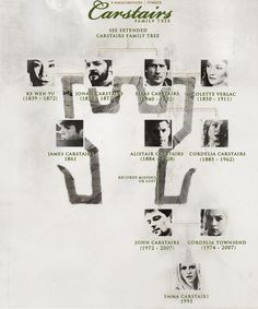 Fan Art of TMI Family Trees for fans of Mortal Instruments.