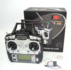 드론 Flysky 2.4 그램 6CH TX RX FS-R6B RC 무선 제어 송신기 수신기 시스템