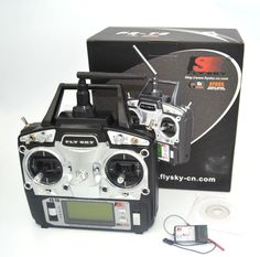 Drone de FlySky FS-T6 2.4G TX RX FS-R6B 6CH RC del Control de Radio Transmisor Receptor Sistema
