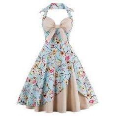 trendsgal.com - Trendsgal Floral Print Pin Up Dress - AdoreWe.com