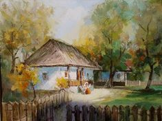 Andrei Branisteanu - In Ograda House Styles, Houses, Painting, Home Decor, Art, Homes, Decoration Home, Room Decor, Painting Art