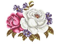 Embroidery Roses cross stitch Roses machine by BicallisEmbroidery