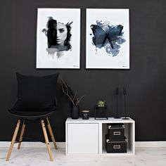 Lust & Blue Butterfly by People of Tomorrow | www.peopleoftomorrow.no |  #poster #artprint #interiorposter #interior #scandinavianinterior #nordicinterior #nordic #interiør #interiørplakat #interiørplakater #scandinavianlivingroom #livingroom