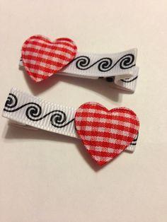 Heart Hair Clippies by mycutesies on Etsy, $3.00