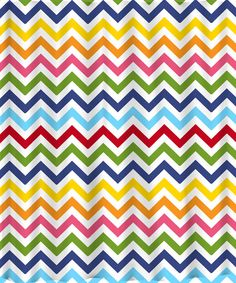 Shower Curtain  Rainbow Chevron Any colors of your by redbeauty