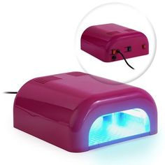"""Professional 36 Watt UV Beauty Salon Nail Dryer - Pink by Online Salon Store. $27.88. Produces UVA light. Quickly cure all UV and gel-based coatings (all brands of nail products). Each bulb measures 5"""" long with twin-tube design for uniform light dispersion. Includes 4 long-life CFL UV bulbs for total 36-watt drying power. Large drying area: 6"""" x 6"""" x 2-1/8""""; overall dimensions: 8-3/4"""" x 9-3/4"""" x 4"""". This premium UV nail dryer is designed to cure UV and gel-bas..."""