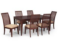 Legacy Classic Lawson 7 PC Dining Set - Medium Cherry Legacy Classics Lawson Leg table with Splat Back Side Chairs Features: Style: Contemporary Wood: Poplar Solids & Cherry Veneer Finish: Medium Cherry