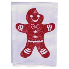 Gingerbread Man Dishtowel (Set of 2)