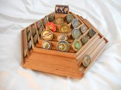 Each and every one of these coin racks has beautiful grain and character!  Each coin rack is hand-built by me, an active duty Soldier with 1...