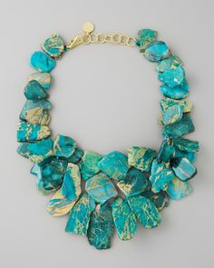 Nest Clustered Turquoise Jasper Necklace - Neiman Marcus