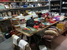 Treasure trove in the back room at Melbourne Op- Shop, Christ Church, Brunswick (Glenlyon Rd near the Sydney Rd corner)