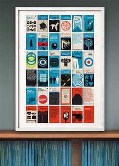The fourth in our series inspired by the design and aesthetic of 1960's Penguin and Pelican book covers, our new print is an A to Z library of 34 of the Greatest Movies of all time. The title of each book is a quote from the movie and the author is one of the lead characters. The number covers are our top eight films (you may not agree with our choice, but once again, our print, our rules).  All the answers are on the back cover if you can't guess them all.