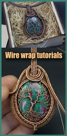 Wire wrapped tree of life tutorial PDF. Wire Wrapped jewelry tutorials. Wire Wrap tutorial Step by step. DIY Pendant Tree of Life. The book has 160 pages, more than 300 high-resolution photos. After studying the lessons you can independently make four pendants Tree of Life. I use copper wire in my tutorial. And this does not necessarily mean that you should use copper wire. Use any wire. Copper Wire Jewelry, Wire Jewelry Designs, Jewelry Crafts, Jewelry Art, Handmade Jewelry, Jewlery, Wire Necklace, Wire Wrapped Necklace, Wire Wrapped Pendant