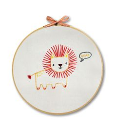 """Penguin & Fish Embroidery Kits 8"""" Round Stitched In Floss-Lionnull"""