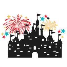 {FREE Daily Cut File} Castle with Fireworks - Available for FREE today only, Aug 4