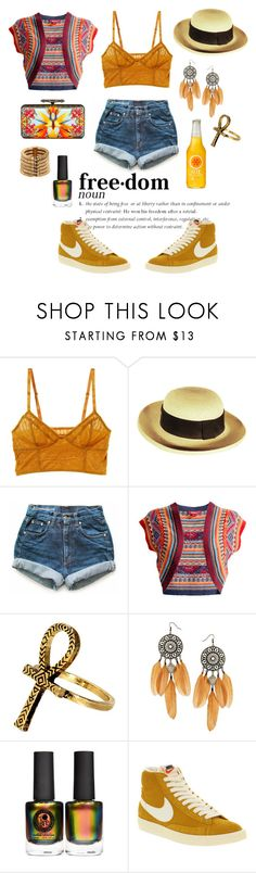 """Freedom"" by nordicstyle ❤ liked on Polyvore featuring Intimately Free People, Yves Saint Laurent, Levi's, Monsoon, House of Harlow 1960, ASOS, Givenchy, NIKE and Balmain"