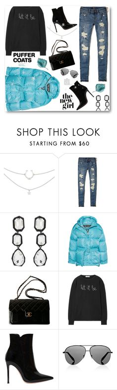 """Puffer Coats!"" by prettynposh2 ❤ liked on Polyvore featuring Hollister Co., AMBUSH, Ienki Ienki, Chanel, Lingua Franca, Gianvito Rossi, Victoria Beckham, casual, 1st and puffer"