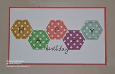 Stampin Adventures, Marlieke Smetsers, Stampin' Up! Six-sides sampler, hexagon punch, Back to Basics, Celebrate Today