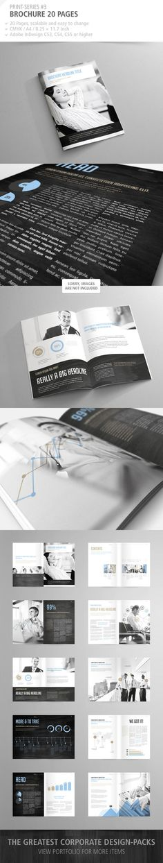 Brochure 20 Pages Print-Series #3 by schwarzbrotgold , via Behance