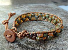 Earthy leather wrap bracelet by CaliTerra Designs