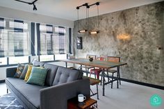 Here are Singapore's 2015 most popular homes and interior styles. Get inspired by Scandinavian, minimalist, eclectic, industrial and contemporary looks. Flat Interior Design, Cosy Interior, Interior Design Singapore, Contemporary Interior Design, Contemporary Furniture, Interior Design Living Room, Interior Styling, Living Room Decor, Small Master Bedroom