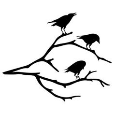 Raven+Pictures+Bird+Silhouette | Crow On Branch clip art ...