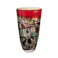 image of Abstract Art 10.5-Inch Glass Vase