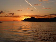 Sunset over Dubrovnik, Croatia