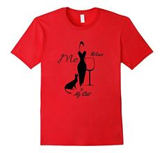 Perfect for the women who loves wine and her cat. This classy and a sophisticated design makes a perfect addition to your t-shirt wardrobe. Great gift or collectible for any time of the year. Cheers! Exclusive Design by Kimmi &C's T's.