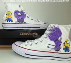 ba8d034a345812 Custom painted minions Converse shoes hi tops sneakers Facebook.com angelordart   Converse Hi