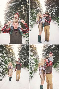 Snowy family pictures –{East Coast Family Photography}
