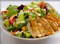 My kind of salad.a chicken salad,with feta. Serves as a light lunch. Hcg Recipes, Easy Salad Recipes, Easy Salads, Healthy Salads, Easy Meals, Healthy Eating, Healthy Recipes, Healthy Options, Lunch Recipes