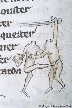 Headless sword ballet? Pierpont Morgan Library MS G24 (Monty Python and the Holy Grail inspiration? rw)