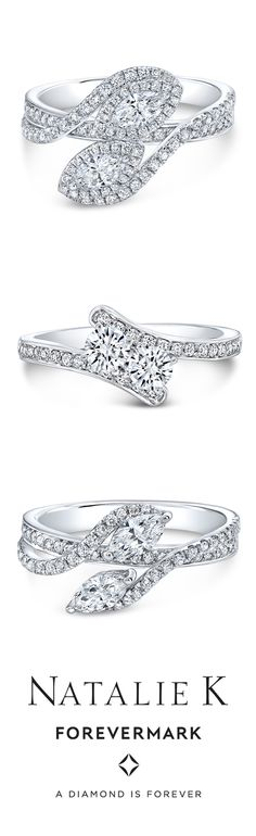 The latest from our 2 Stone Ever Us Collection for @forevermark Top to bottom: FM34292, FM34178, FM34289